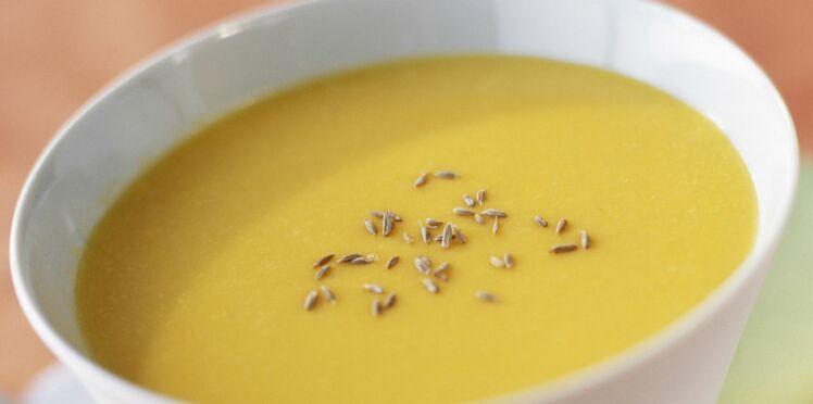 Soupe de carotte parfumée au cumin