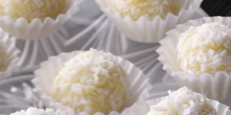 Truffes au chocolat blanc