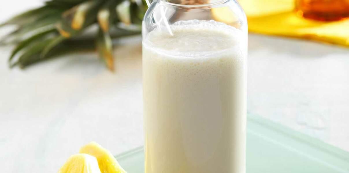 Milkshake ananas noix-de-coco