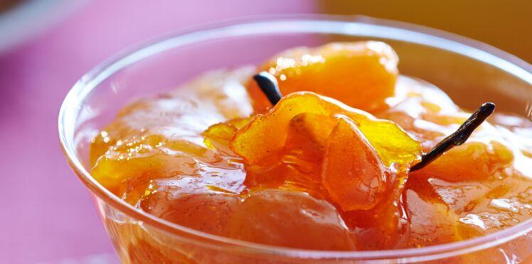 Confiture express d'abricots secs à la vanille