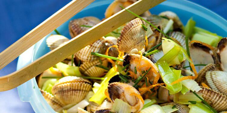 Salade de coques au gingembre