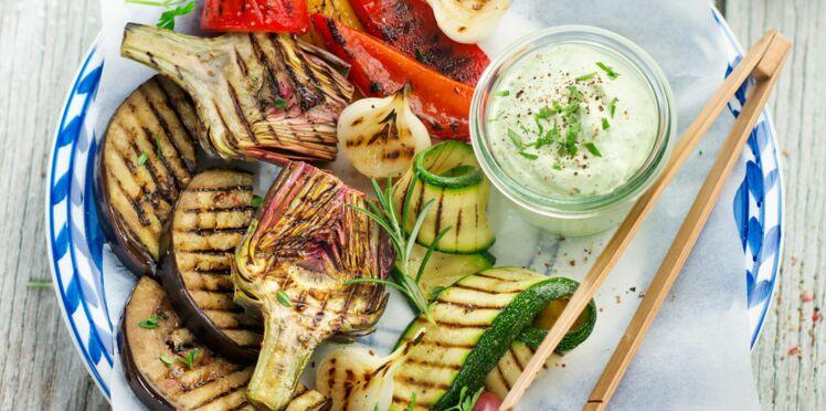 Légumes grillés à l'aïoli et au chorizo