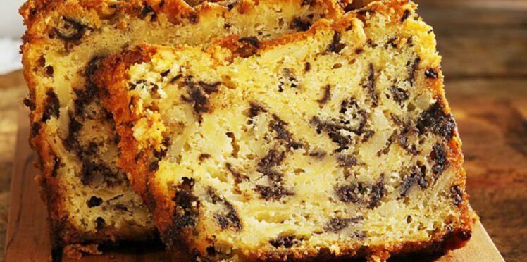 Cake aux pommes et au chocolat