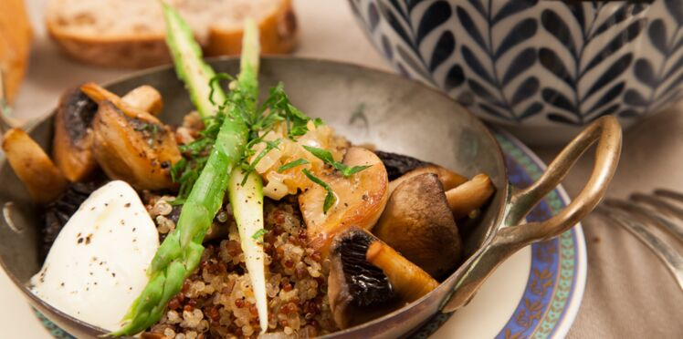 Suprême de champignons au quinoa