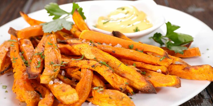 Frites de patates douces 167 kcal/200g