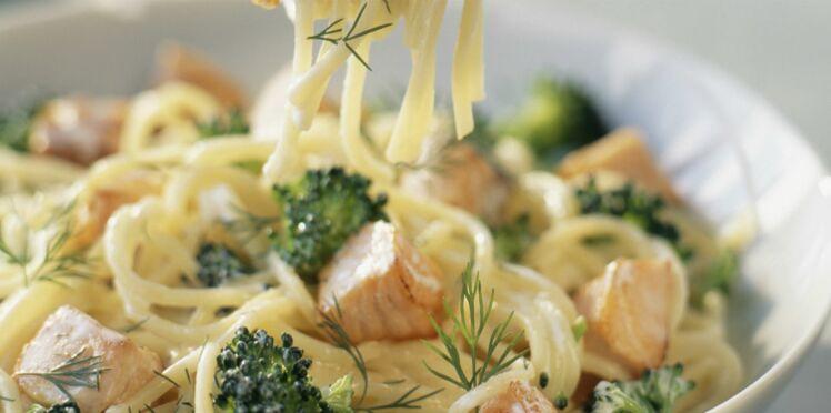 Spaghettis au saumon