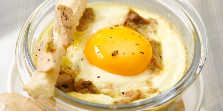 Œufs cocotte au foie gras