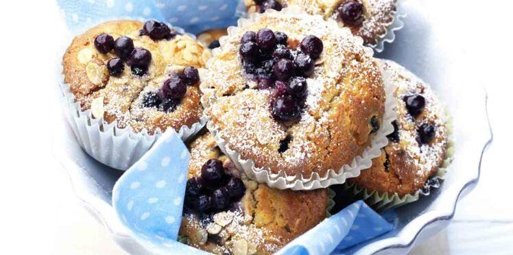 Muffins aux myrtilles sauvages
