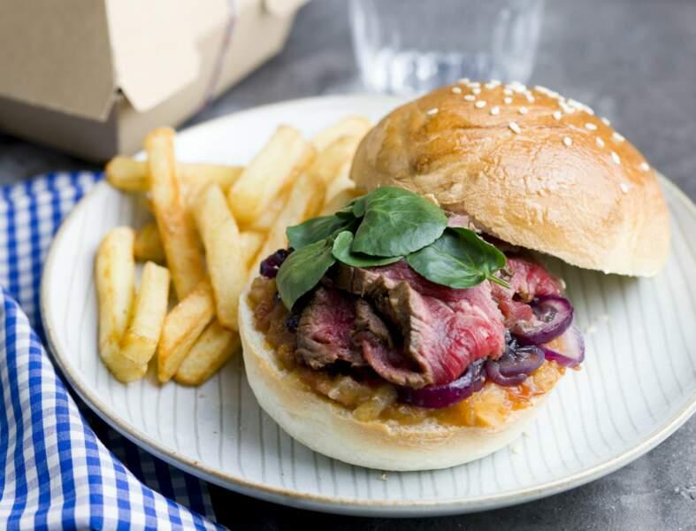 Burger à l'émincé de bœuf