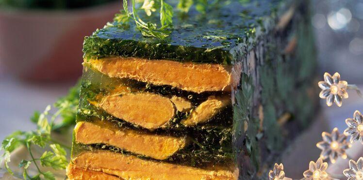 Terrine de foie gras aux herbes