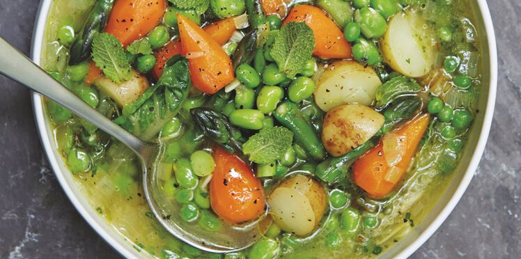 Soupe légumes primeurs