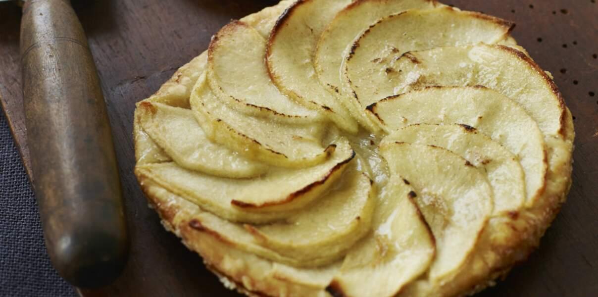 Tarte aux pommes légère