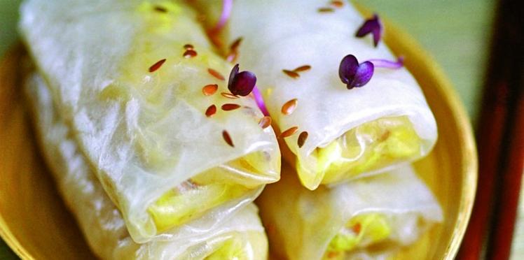 Rouleaux de chou chinois sauté au gingembre