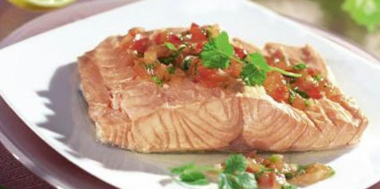 Pavé de saumon mariné aux épices et sa purée de céleri