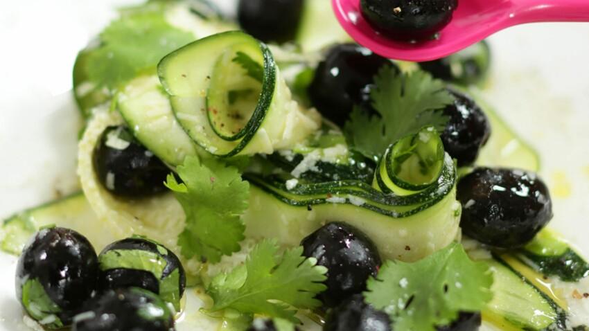 Tagliatelles de courgettes aux olives