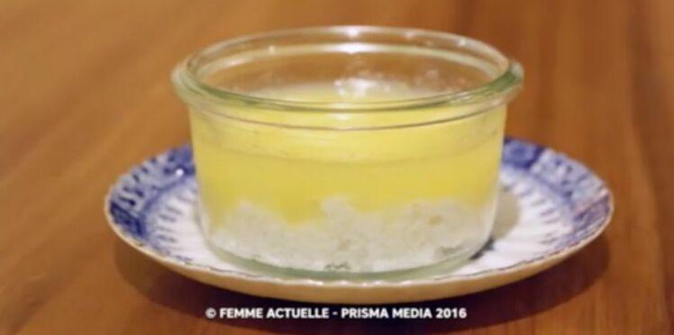 Tapioca au lait de coco et sa compote de pommes pour bébé