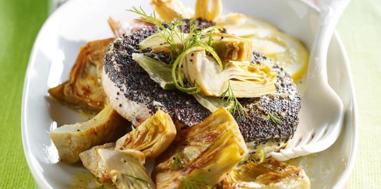 Steaks de thon au pavot et au citron vert