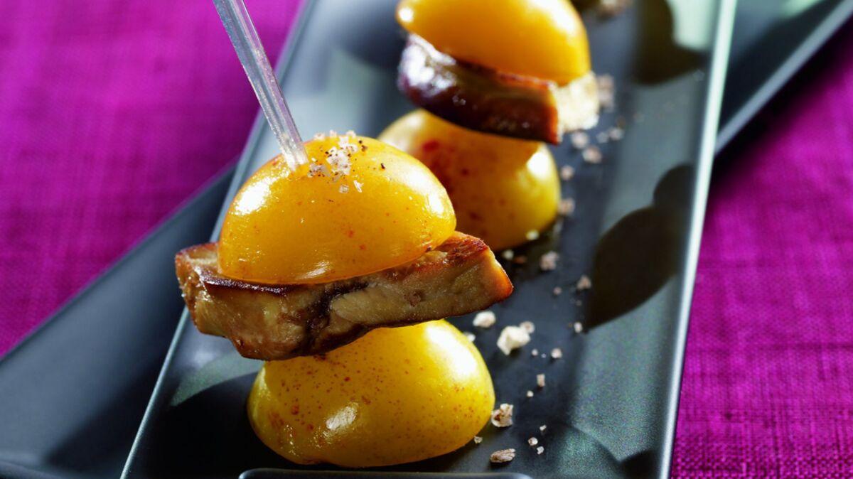 Mirabelles de Lorraine farcies au foie gras