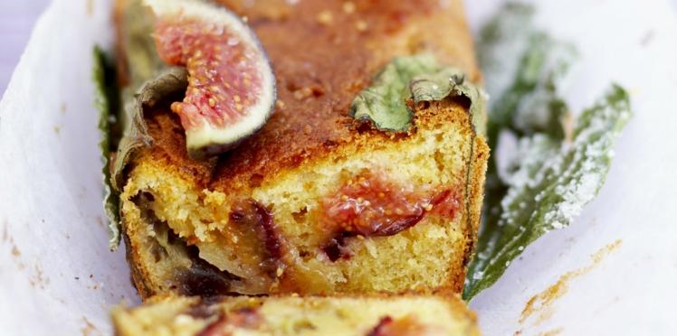 Cake aux figues fraîches