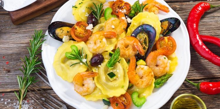 Raviolis aux fruits de mer