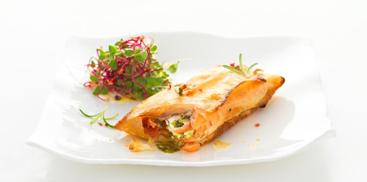 Mini croustillant de saumon fumé bio