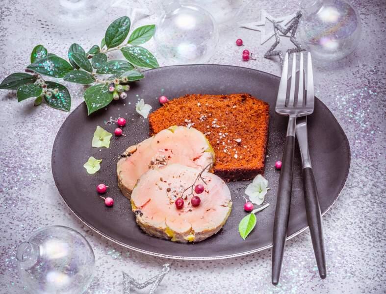 Terrine de foie gras au pain d'épices au robot
