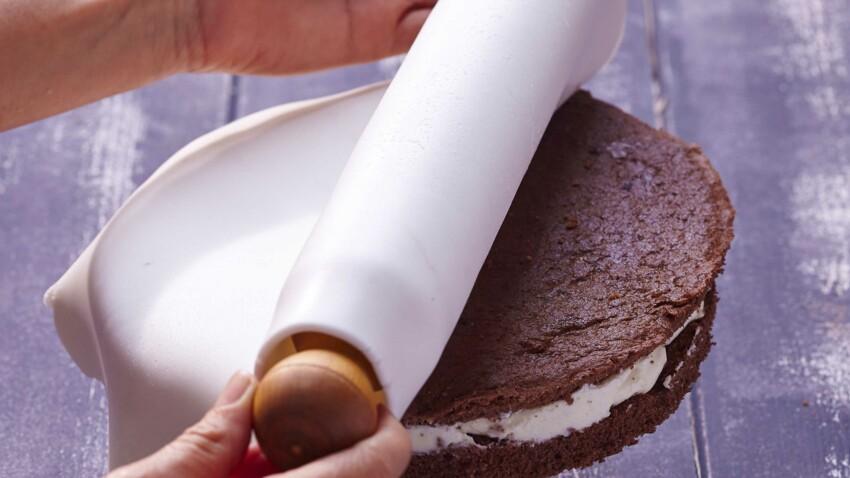 Gâteau avec pâte à sucre