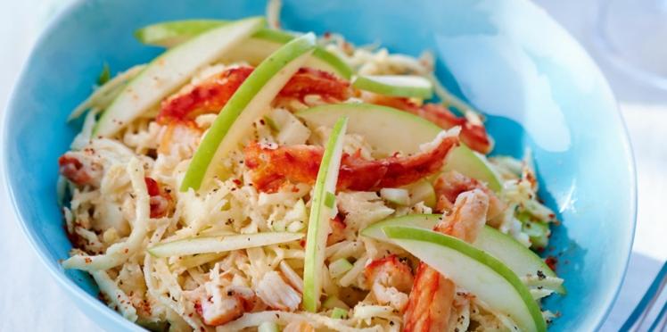 Céleri rémoulade au crabe et à la pomme verte