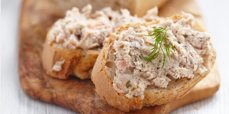Rillettes de sardines, beurre et citron