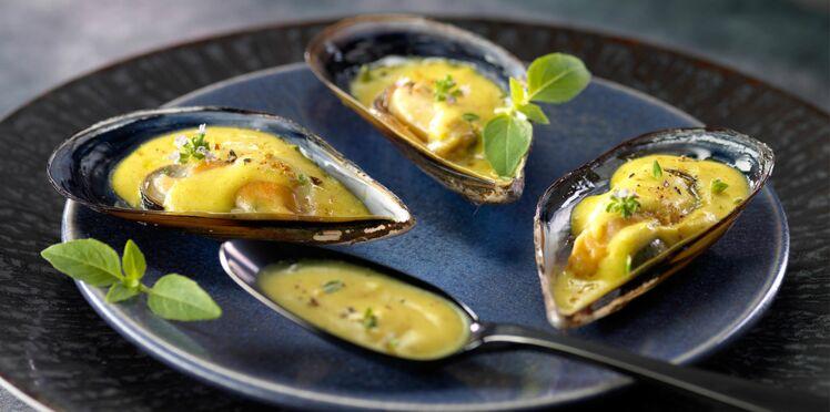 Moules sauce sabayon