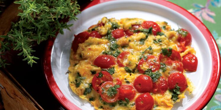 Omelette aux tomates