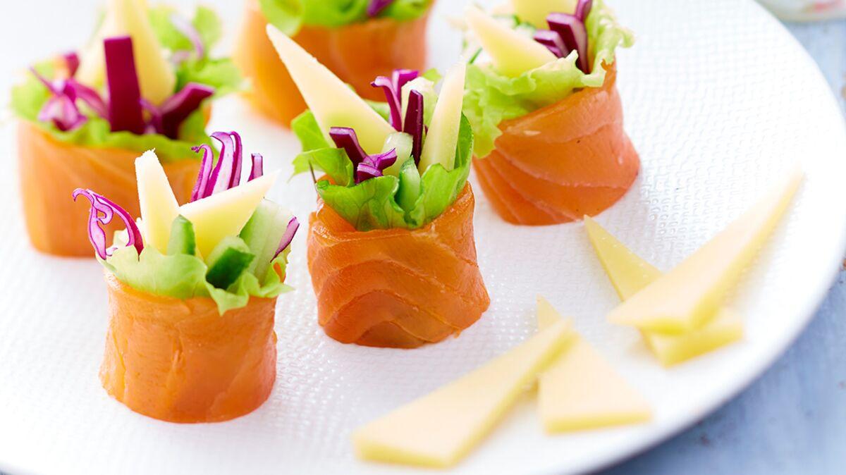Maki au Gruyère d'Alpage AOP, saumon fumé et légumes