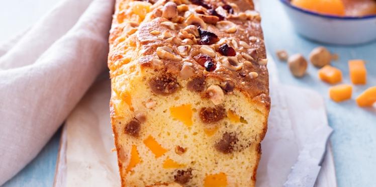 Cake aux fruits secs et à la mimolette
