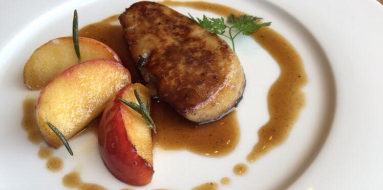 Pommes rôties et foie gras de canard