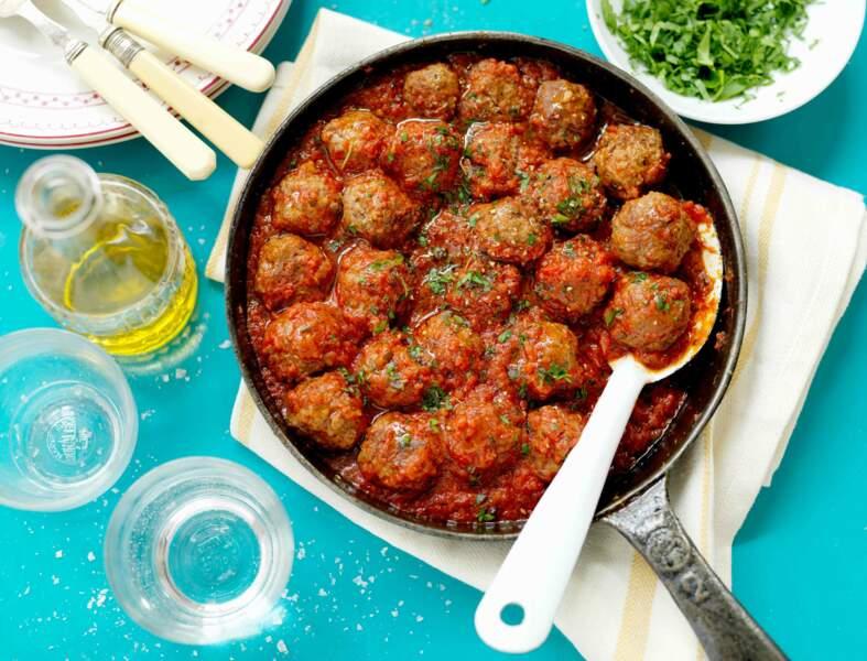 Polpettes de viande à la sauce tomate