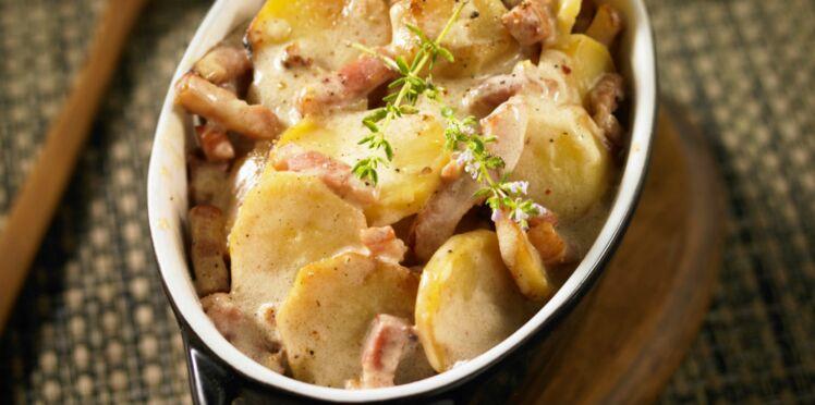 Pommes de terre rôties à la cancoillotte