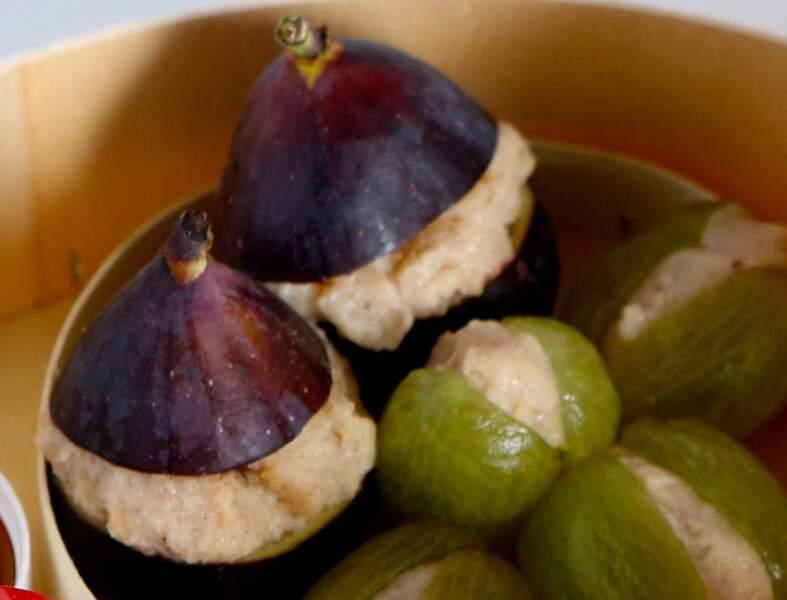 Fruits déguisés à la semoule au lait
