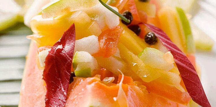 Salade de papayes aux fruits exotiques