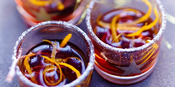 Vin d'orange aux raisins