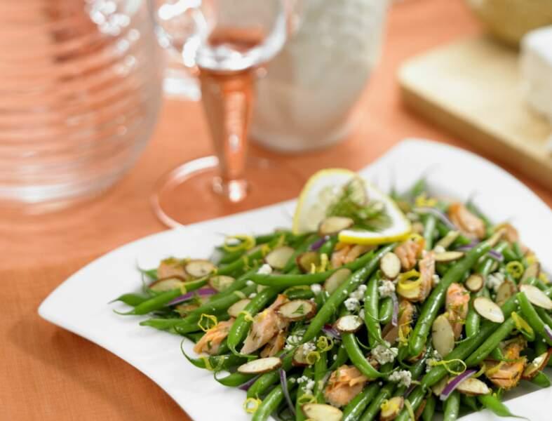 Salade de poulet curry et haricots verts