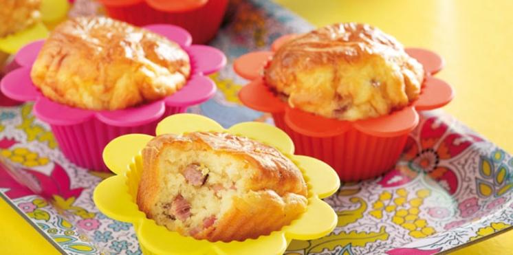 Muffins aux lardons et au fromage