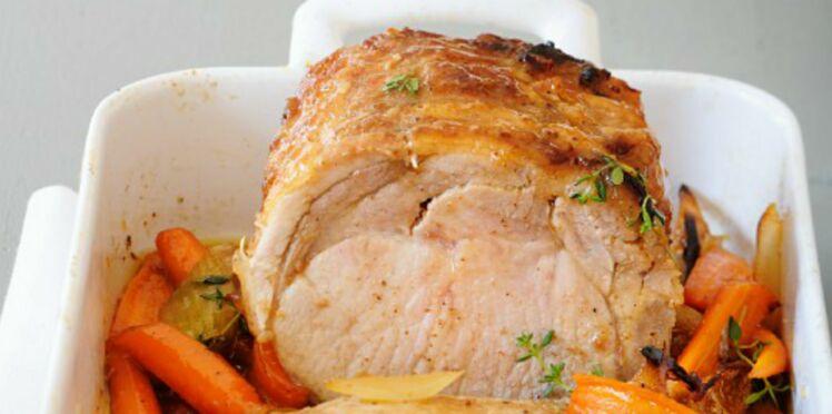 Rôti de veau et carottes caramélisées