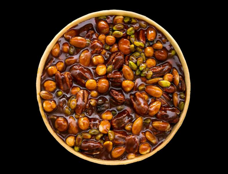 Tarte caramel et fruits secs