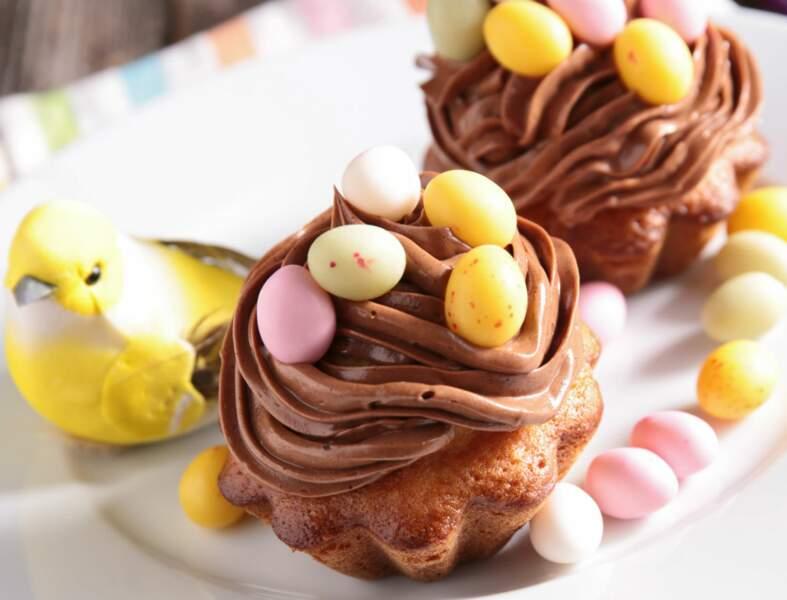 Cupcakes au chocolat pour Pâques sans gluten