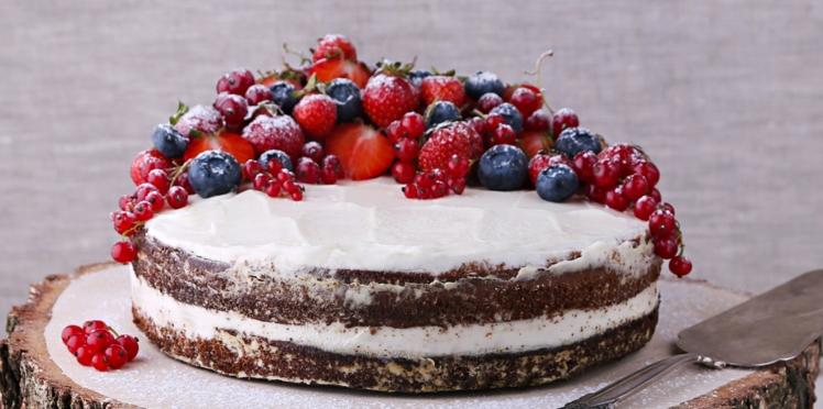 Naked Cake aux fruits rouges
