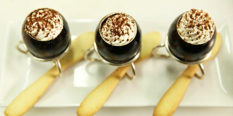 Coque d'oeuf de crème de café