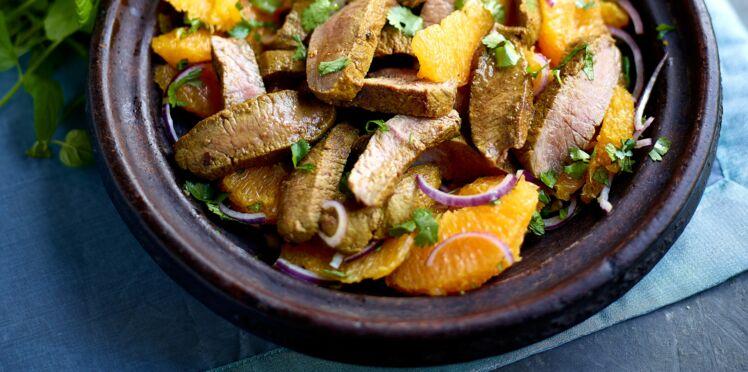 Salade d'agneau à la marocaine