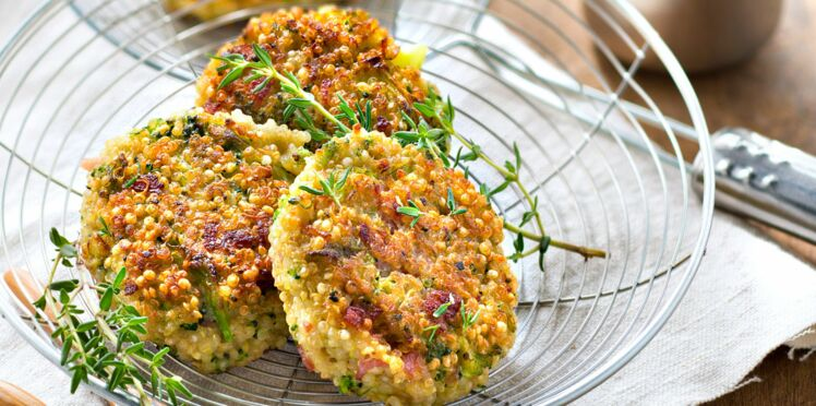Croquettes de quinoa, brocoli et bacon