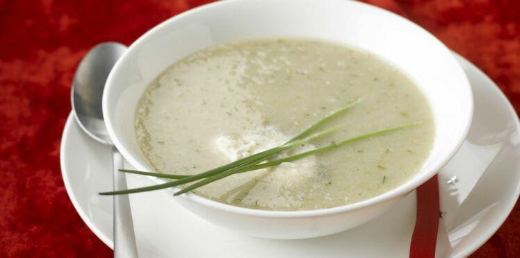 Soupe aux chicons (endives) et au Boursin