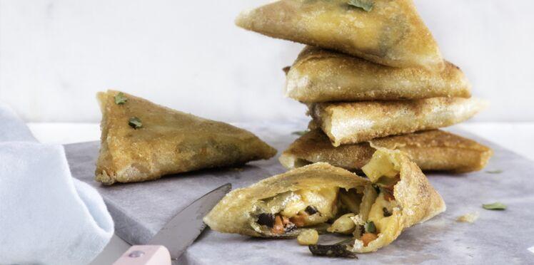 Samoussas au wok de légumes Madras